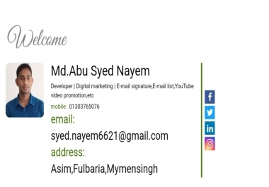 I will provide professional clickable HTML email signature