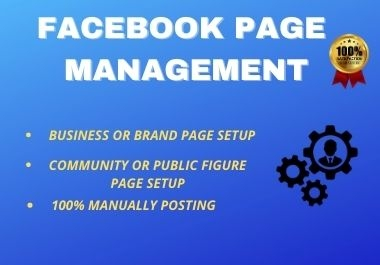 I will Manage and Create a Professional Facebook business or Public page
