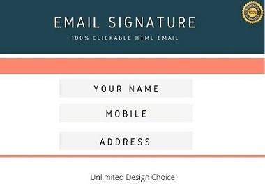 I will originate fascinating clickable HTML email signature