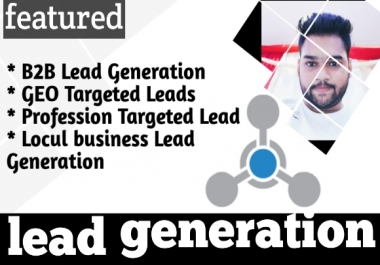 I will do b2b lead generation .i will provide you 1,000 bulk email