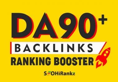 Add create 30 high PR dofollow backlinks from da 90 site