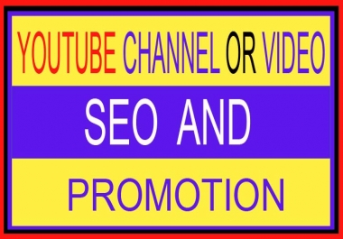 I will Provide YouTube SEO and Promotion
