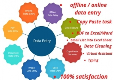 i can provide you any kind of online /offline data entry and copy paste