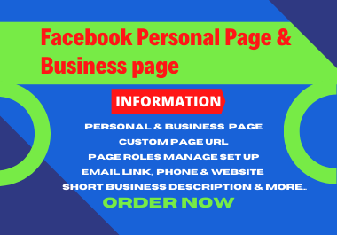 I will create develop and optimize, your Facebook, business, & professional, page,