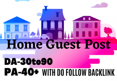 I will do a guest post in the home improvement blog