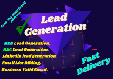 provide you 500 B2B B2C lead generations for your business.
