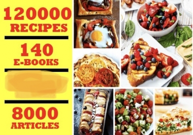 plr articles and ebooks on 120,000 recipes instantly
