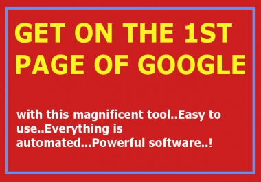 Top Page of Google by ease with this Powerful SEO Software