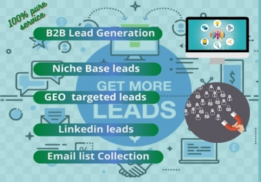 I will do provide targeted 2k B2B lead generation