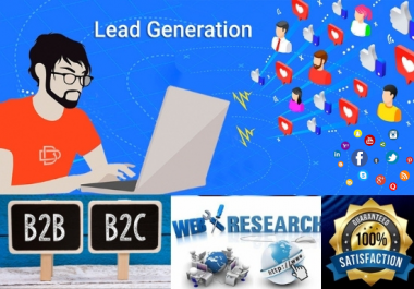 I will provide b2b lead generation and targeted lead generation