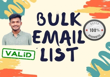 I'll provide 1000 targeted niche based email list