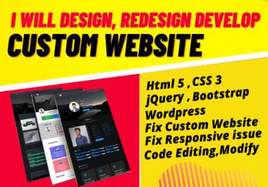design, redesign develop a custom website