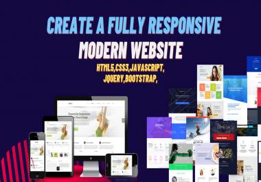I will build a responsive website