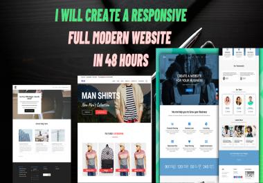 create a responsive full modern website