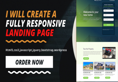 Create a professional landing page