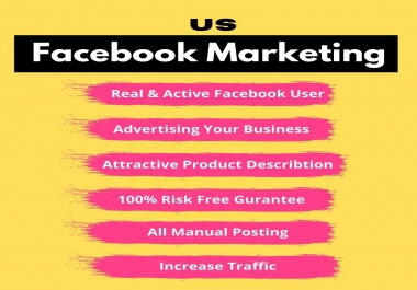 I will promote your business or products to targeted area in us