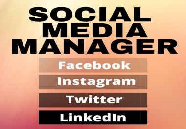 I will be your Social Media Marketing Manager and Creative Content Creator