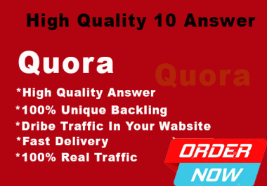 I provide 15 DA PA Quora Answer with backlink