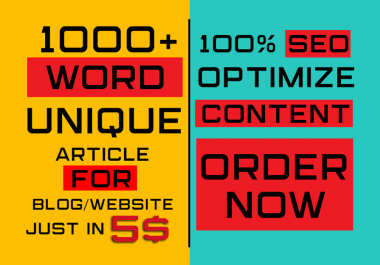 i will write 1000 SEO website content writing and blog writing