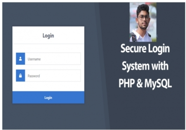 I create secure login and registration system with PHP and Mysql