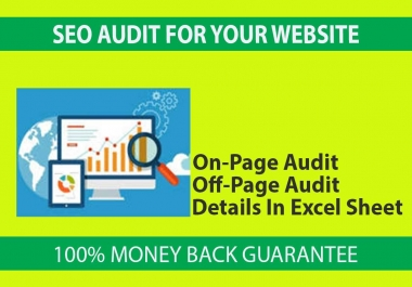 I will Provide SEO Audit On-Page & Off-Page
