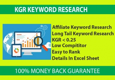 I will provide KGR KEYWORD Research