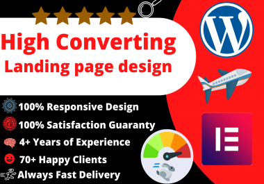 I will convert wordpress landing page website with elementor pro