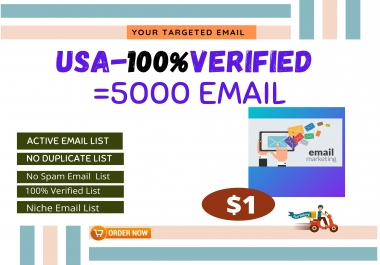 I will do niche and verified active email list