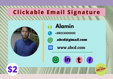 I will Clickable email signature