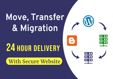 I will transfer blogger to wordpress, host to host, host to vps with secure