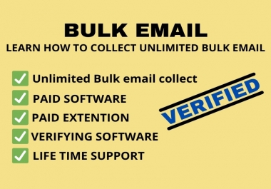 I Will Tech You How To Collect Unlimited Bulk Email