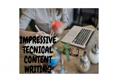 Massive and technical content writing 2500-3000 words