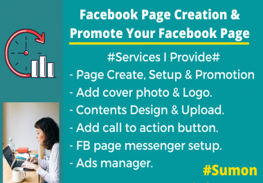 I will create your Facebook page set up and promote it.