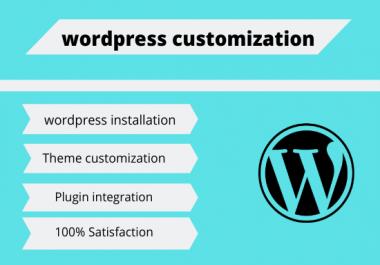 I will do any wordpress customization Gig SEO: