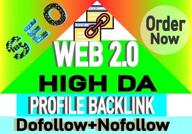 I will create over 100 web 2.0 profile backlinks manually