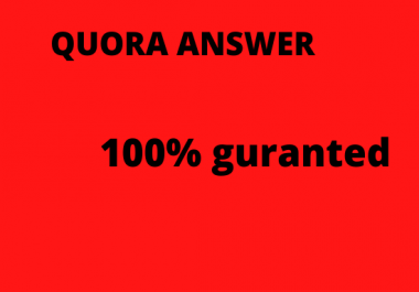 Promote your Website by 6 Quora Answer with Unique Article.take free 1