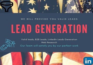 I will do b2b linkedin lead generation email marketing data entry