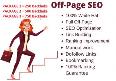 I will manually create 1000+ High Authority SEO Backlinks