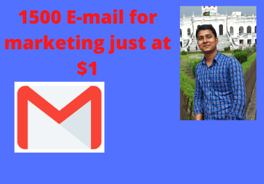 I'll collect targeted and niche based 1500 real E-mails for marketing