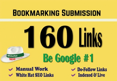 rank your website google 1st page by 160 HQ Backlinks