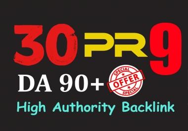build 30 pr9 da 90 high authority SEO backlinks