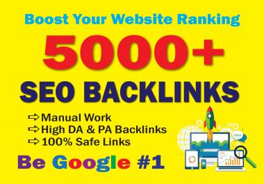 build high da 5000 SEO backlinks for new website