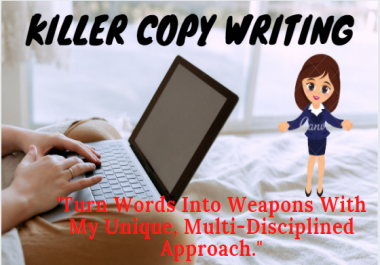 I will do professional copywriting in 500+ words for your website or print ad.