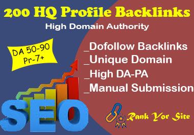 I'll Provide 200 High DA PA Dofollow Profile Backlinks