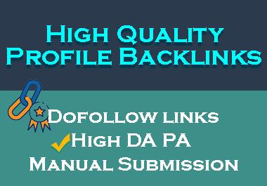 I'll Create 40 High Quality Profile Backlinks