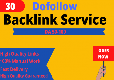 I will create manually 30 High DA 90+ Profile Backlinks