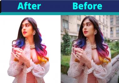 I will do professionally any photo background removing