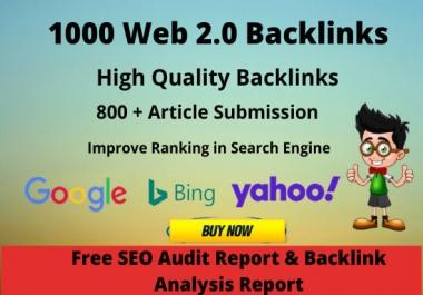 I will create 20 High DA PA web 2 0 blogs backlinks