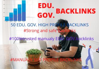 I will make 50 GREAT EDU.GOV. profile backlinks