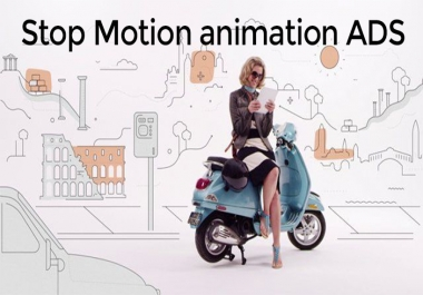 I will create stop motion video ads for your business or social media